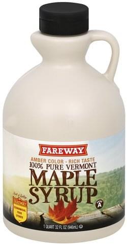 Fareway 100% Pure Vermont Maple Syrup - 1 QT