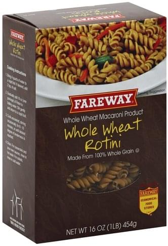 Fareway Whole Wheat Rotini - 16 oz