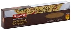 Fareway Spaghetti Whole Wheat, Thin