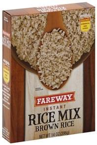 Fareway Rice Mix Instant, Brown Rice