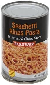 Fareway Spaghetti Rings Pasta in Tomato & Cheese Sauce