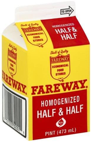 Fareway Homogenized Half & Half - 1 pt