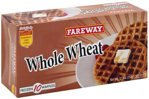 Fareway Whole Wheat Waffles - 10 ea