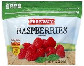 Fareway Raspberries Unsweetened
