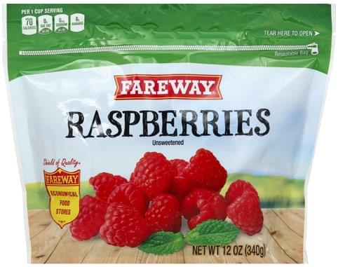 Fareway Unsweetened Raspberries - 12 oz