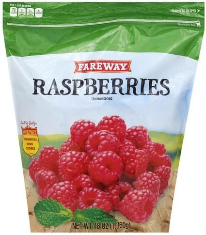 Fareway Unsweetened Raspberries - 48 oz
