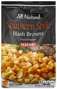 Fareway Hash Browns Diced, Southern Style