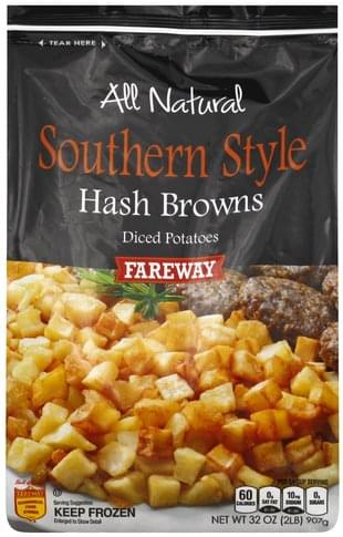 Fareway Diced, Southern Style Hash Browns - 32 oz