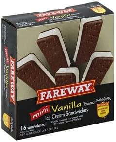 Fareway Ice Cream Sandwiches Mini, Vanilla