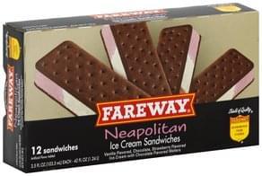 Fareway Ice Cream Sandwiches Neapolitan