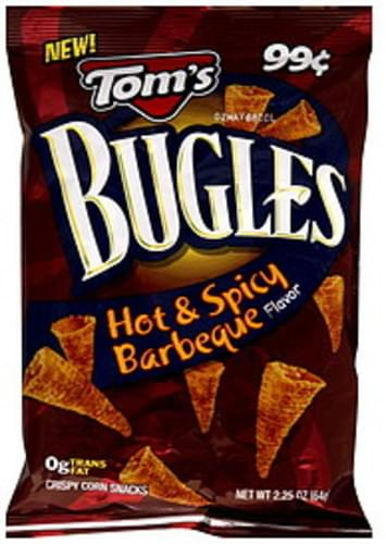 Toms Hot & Spicy Barbecue Flavor Bugles - 2.25 oz