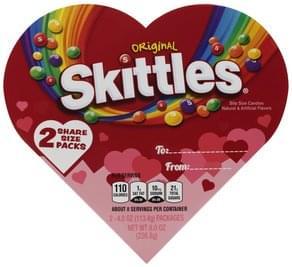 Skittles Candies Original, Bite Size, 2 Share Size Packs