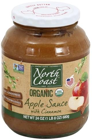 North Coast Organic, with Cinnamon Apple Sauce - 24 oz