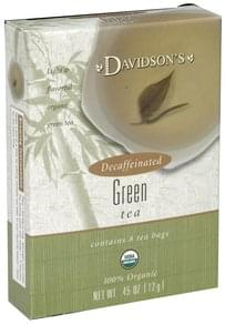Davidsons Tea Green, Decaffeinated