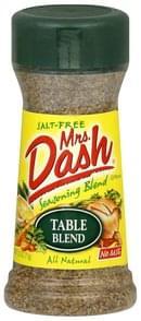 Mrs Dash Seasoning Blend Table Blend