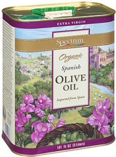 Spectrum Extra Virgin Organic Spanish Olive Oil - 101 oz