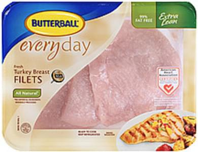 Butterball Turkey Breast Filets Everyday Fresh All Natural 99% Fat Free