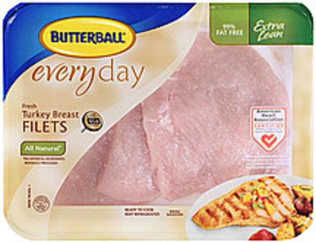 Butterball Everyday Fresh All Natural 99% Fat Free Turkey Breast Filets - 0