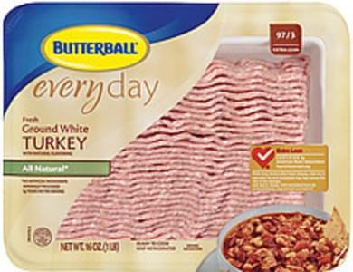 Butterball Ground Turkey Everyday Fresh All Natural White 97/3 Extra Lean