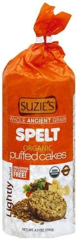 Suzies Organic, Spelt, Lightly Salted Puffed Cakes - 4.1 oz