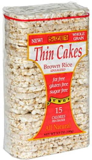 Suzies Brown Rice Thin Cakes - 3.5 oz