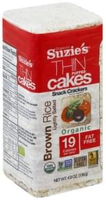 Suzies Thin Puffed Cakes Organic, Brown Rice, Lightly Salted