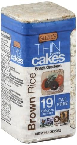 Suzies Puffed, Brown Rice Thin Cakes - 4.9 oz