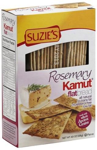 Suzies Kamut, Rosemary Flatbread - 4.5 oz