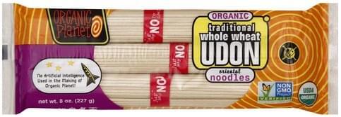Organic Planet Organic, Traditional Whole Wheat Udon - 8 oz