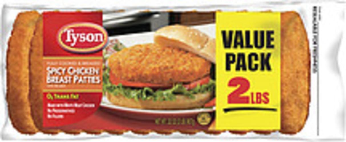 Tyson Spicy Chicken Breast Patties - 32