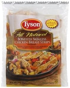 Tyson Chicken Breast Strips with Rib Meat