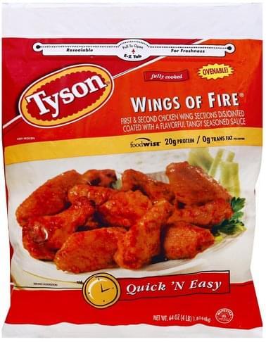 Tyson Wings of Fire - 64 oz, Nutrition