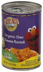 Earths Best Cheese Ravioli 123 Sesame Street Organic Elmo