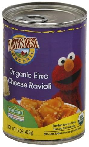Earths Best 123 Sesame Street Organic Elmo Cheese Ravioli - 15 oz