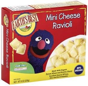 Earths Best Ravioli Mini, Cheese, 123 Sesame Street