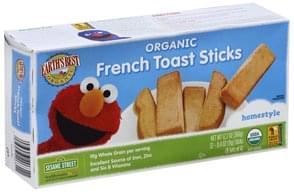 Earths Best French Toast Sticks Homestyle, 123 Sesame Street