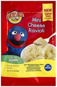 Earths Best Ravioli Mini, Cheese, 123 Sesame Street, Value Size