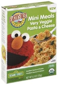 Earths Best Mini Meals Very Veggie Pasta & Cheese, Sesame Street
