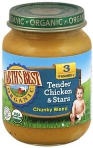 Earths Best Tender Chicken & Stars Chunky Blend, 3 (9 Months+)