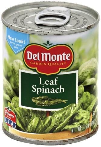 Del Monte Leaf Spinach - 7.75 oz