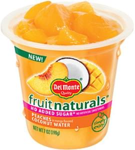 Del Monte Fruit Cup Fruit Naturals Peaches In Mango Flavored Coconut Water