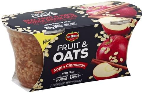 Del Monte Apple Cinnamon Fruit & Oats - 2 ea