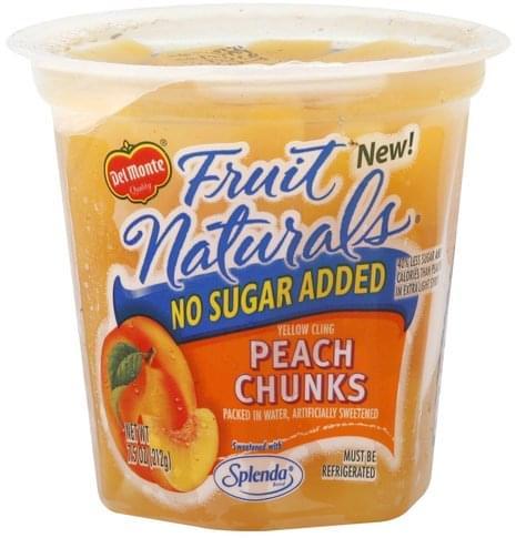 Del Monte Yellow Cling, No Sugar Added Peach Chunks - 7.5 oz