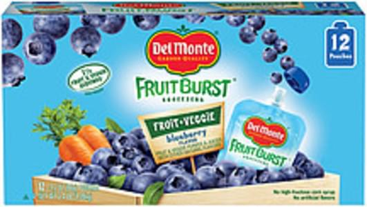 Del Monte Fruit & Veggie Purees & Juices Fruitburst Squeezers Blueberry Flavor