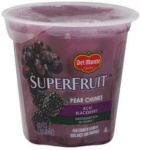 Del Monte Pear Chunks Acai Blackberry