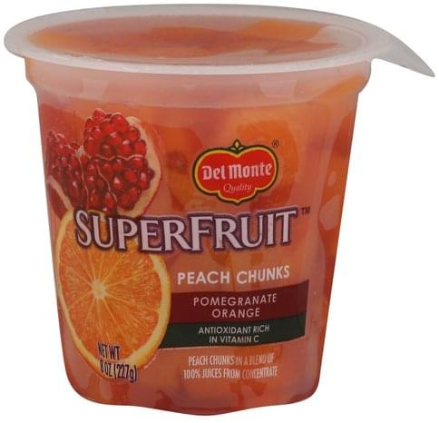 Del Monte Pomegranate Orange Peach Chunks - 8 oz