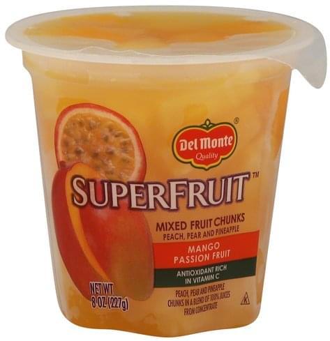 Del Monte Mango Passion Fruit Mixed Fruit Chunks - 8 oz