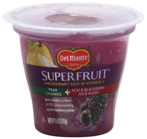 Del Monte Pear Chunks + Acai & Blackberry Juice Blend