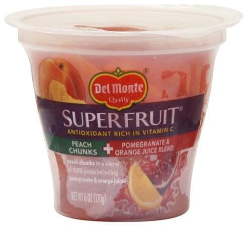 Del Monte in a Pomegranate & Orange Juice Blend Peach Chunks - 6 oz