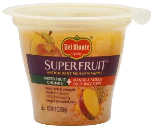 Del Monte in a Mango & Passion Fruit Juice Blend Mixed Fruit Chunks - 6 oz